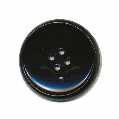 Knoop schotel zwart 35 mm (2 stuks)