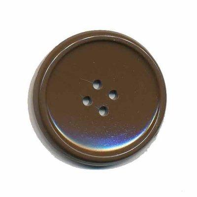 Knoop schotel bruin 35 mm (2 stuks)