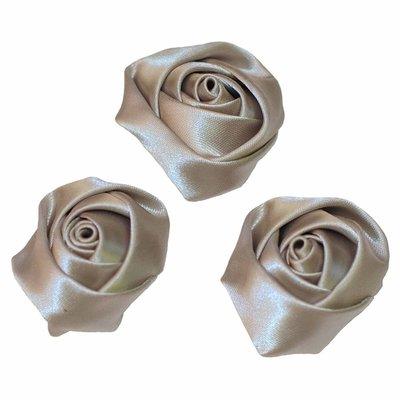 Roos satijn grijs 35 mm