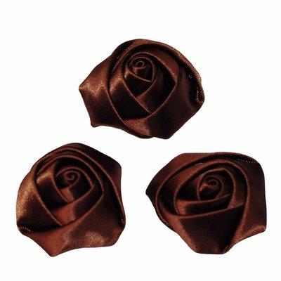 Roos satijn bruin 35 mm