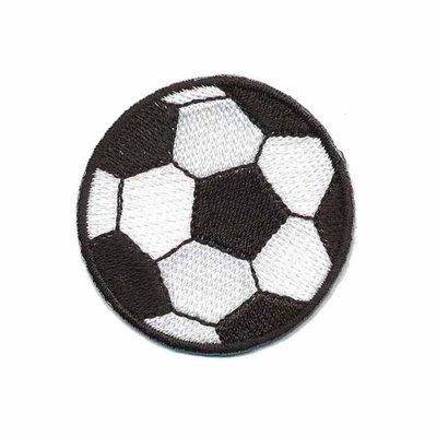 Opstrijkbare applicatie voetbal klein (5 stuks)