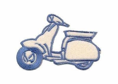 Applicatie scooter creme/blauw (5 stuks)