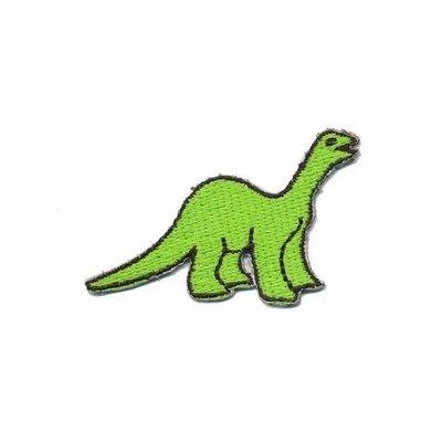 Opstrijkbare applicatie dinosaurus groen (5 stuks)