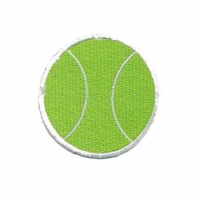 Opstrijkbare applicatie tennisbal (5 stuks)