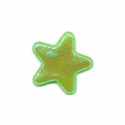 Applicatie glim ster groen klein 25 mm (ca. 25 stuks)
