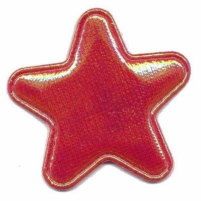 Applicatie glim ster rood groot 45 mm (ca. 25 stuks)