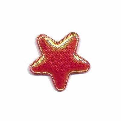 Applicatie glim ster rood klein 25 mm (ca. 25 stuks)