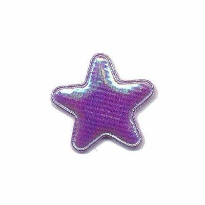 Applicatie glim ster paars klein 25 mm (ca. 25 stuks)