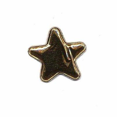 Applicatie glim ster goud 25 mm (ca. 25 stuks)