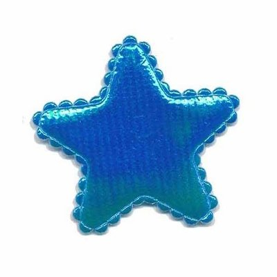 Applicatie glim ster blauw middel 35 mm (ca. 25 stuks)