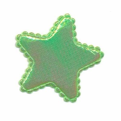 Applicatie glim ster groen middel 35 mm (ca. 25 stuks)
