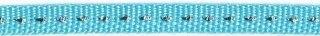 Licht blauw band met zilverdraad 7 mm (ca. 25 m)