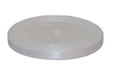 Wit enkelzijdig satijnband 7 mm (ca. 22 m)