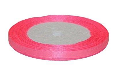 Roze enkelzijdig satijnband 7 mm (ca. 22 m)