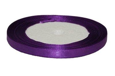 Paars enkelzijdig satijnband 7 mm (ca. 22 m)