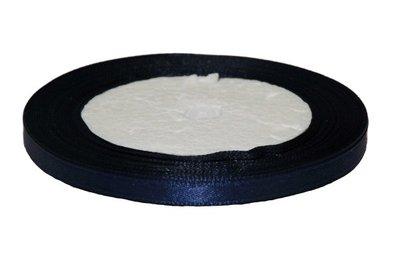 Donker blauw enkelzijdig satijnband 7 mm (ca. 22 m)