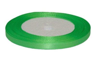 Licht groen enkelzijdig satijnband 7 mm (ca. 22 m)