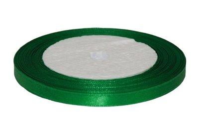 Donker groen enkelzijdig satijnband 7 mm (ca. 22 m)