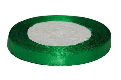 Donker groen enkelzijdig satijnband 10 mm (ca. 22 m)