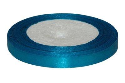 Petrol enkelzijdig satijnband 10 mm (ca. 22 m)