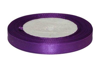 Paars enkelzijdig satijnband 10 mm (ca. 22 m)