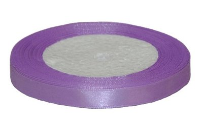 Lila enkelzijdig satijnband 10 mm (ca. 22 m)