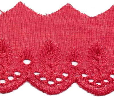 Broderie roze 50 mm