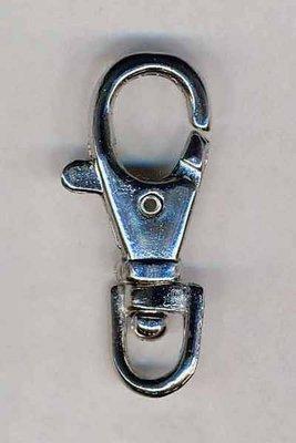 Musketonhaak / sleutelhanger zilverkleurig 17 mm