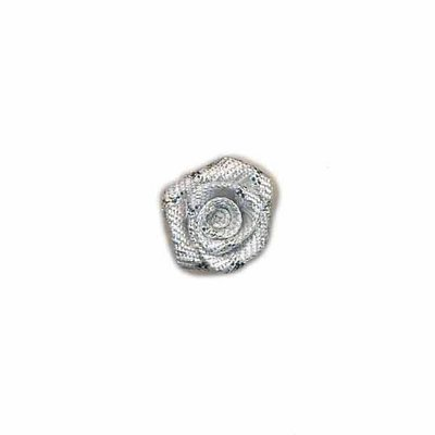 Roosje zilver 15 mm (5 stuks)