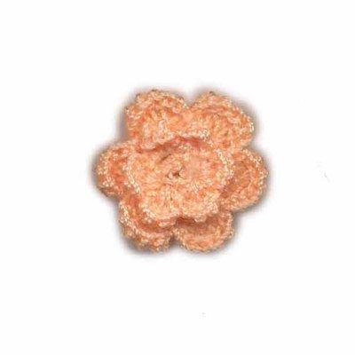 Gehaakt roosje zalm 25 mm