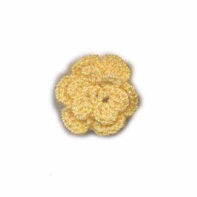 Gehaakt roosje beige 25 mm