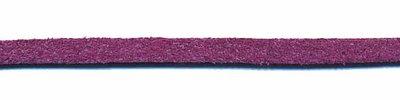 Imitatie suede veter paars 3 mm