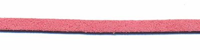 Imitatie suede veter oud roze 3 mm