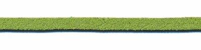Imitatie suede veter groen 3 mm