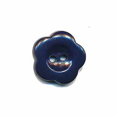 Bloemknoop donker blauw 15 mm