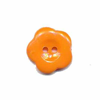 Bloemknoop oranje 15 mm