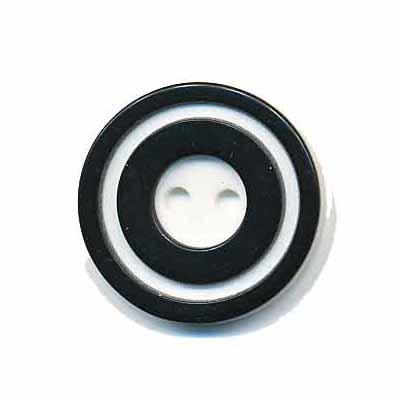 Knoop 'donut' middel zwart 20 mm