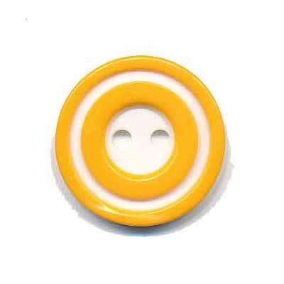 Knoop 'donut' middel geel 20 mm