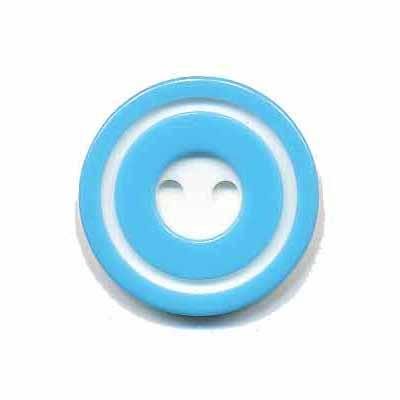 Knoop 'donut' middel blauw 20 mm
