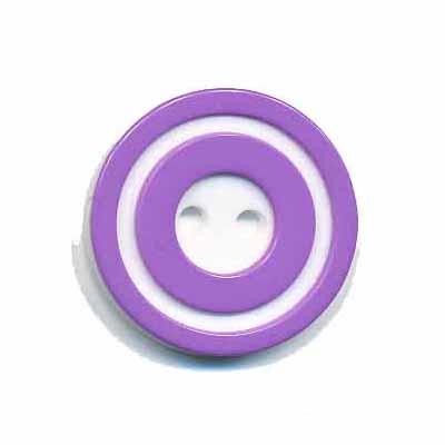 Knoop 'donut' middel lila/paars 20 mm