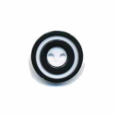 Knoop 'donut' klein zwart 15 mm