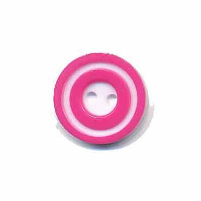 Knoop 'donut' klein fuchsia 15 mm