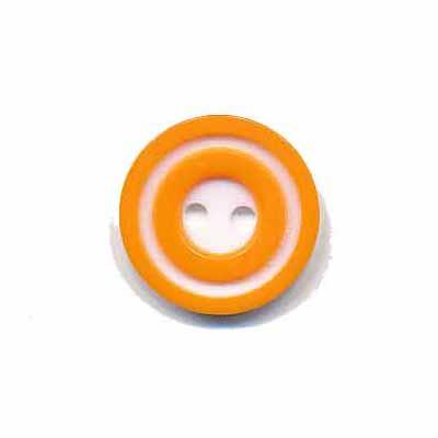 Knoop 'donut' klein oranje 15 mm