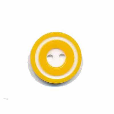 Knoop 'donut' klein geel 15 mm