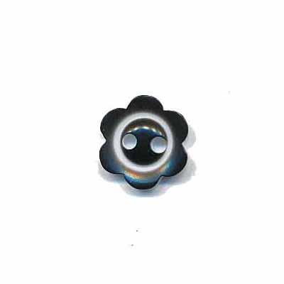 Bloemknoop met rand zwart 10 mm