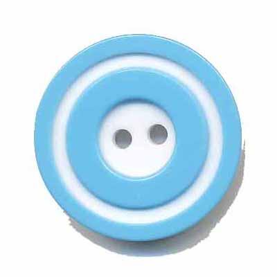 Knoop 'donut' groot blauw 25 mm