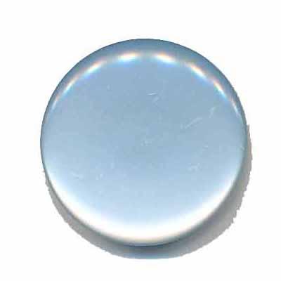 Knoop glans licht blauw 25 mm
