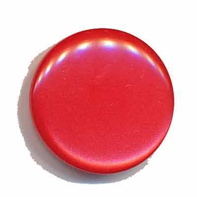Knoop glans rood 25 mm