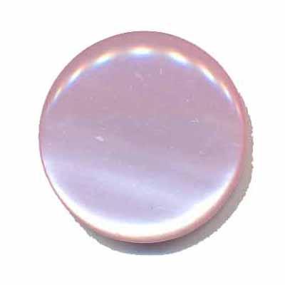 Knoop glans licht roze 25 mm