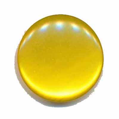Knoop glans geel 25 mm